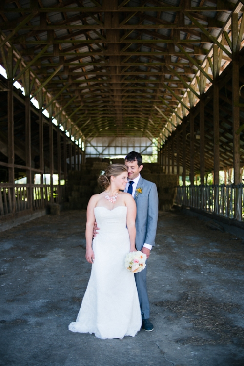 Peri and Jesse used one of the barns for some of their wedding pics last summer.